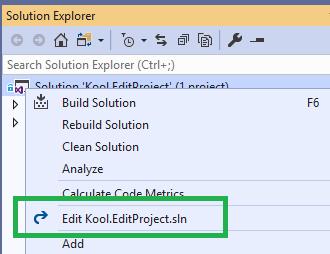 Edit Solution Screenshot